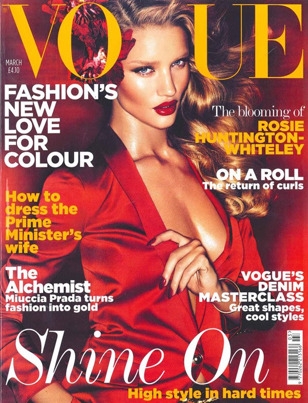 rosie huntington whiteley vogue. Rosie Huntington-Whiteley by